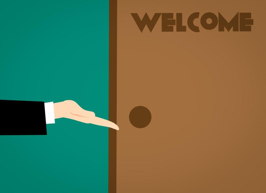 ようこそドアへ