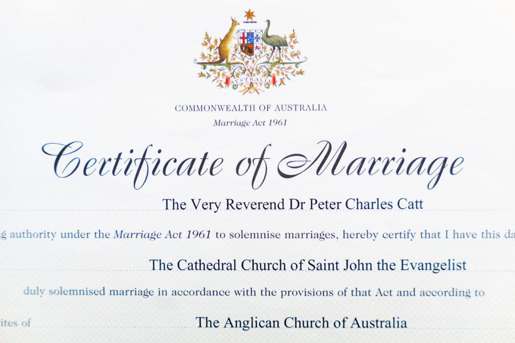 結婚証明書(抜粋)
