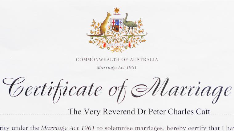 結婚証明書タイトル