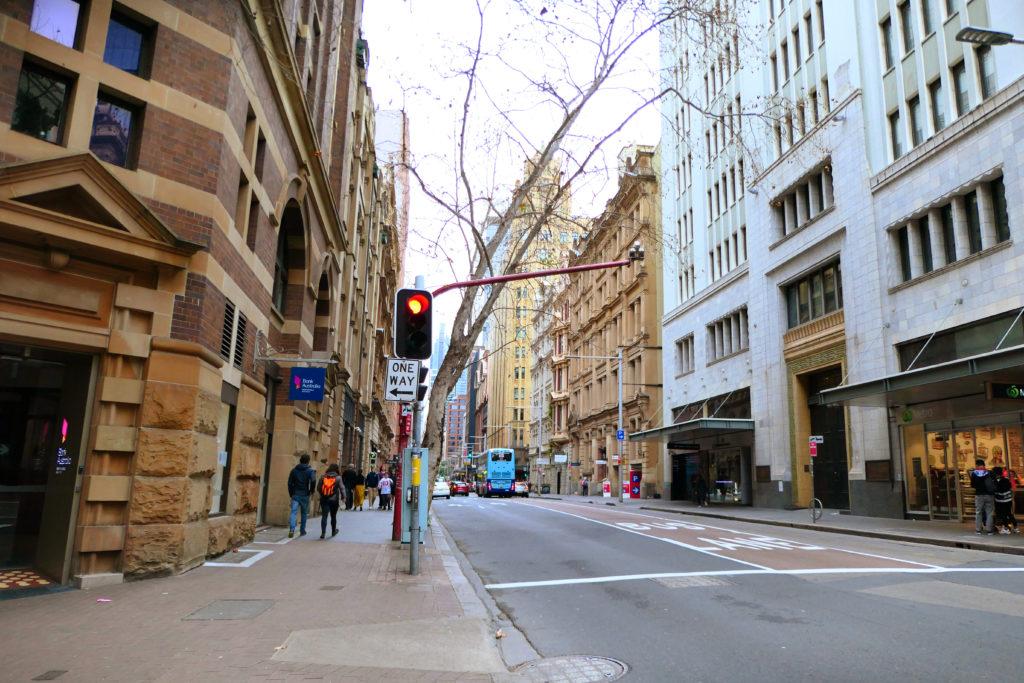 シドニー一方通行道