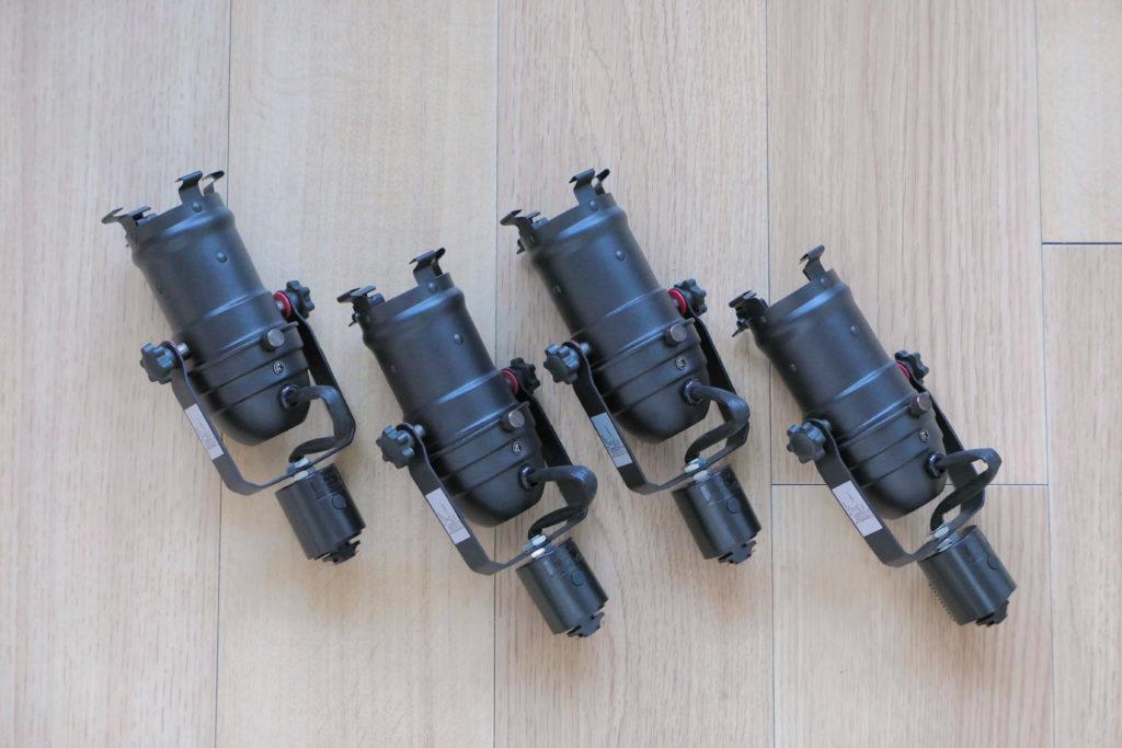LEDスポットライトSPOT-DLS509F本体4つ