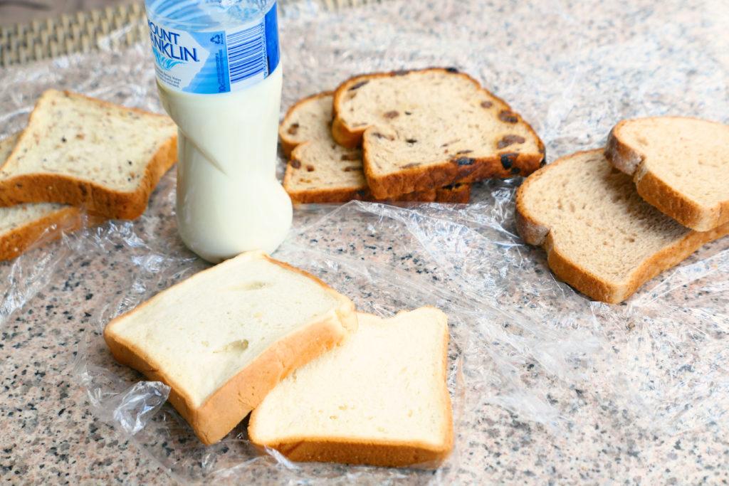 ディスカバリーロットネストアイランド朝食持ち込みパンと牛乳