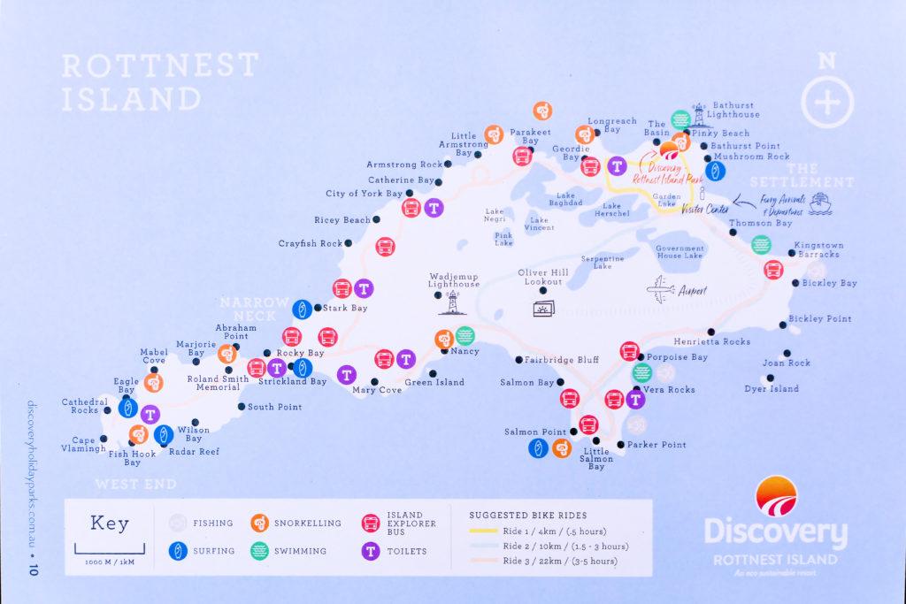 ロットネスト島マップ