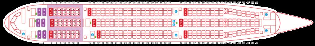エアアジアエアバスA330タイプAA330NEOシートマップ