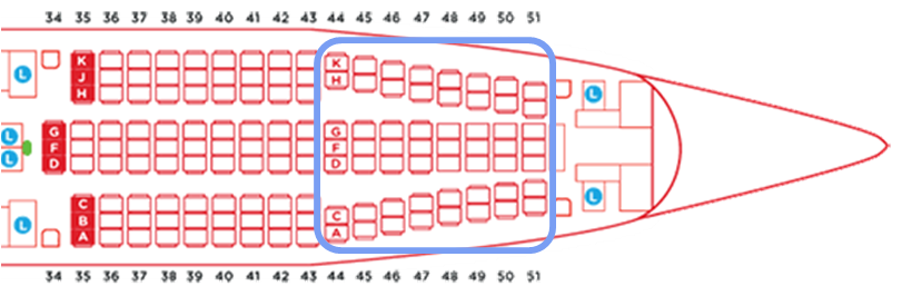 エアアジアエアバスA330タイプAA330NEOシートマップツインシート