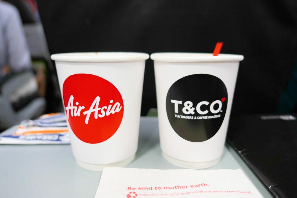 エアアジアXD7523便羽田発クアラルンプール行き 機内サービス特別コーヒー