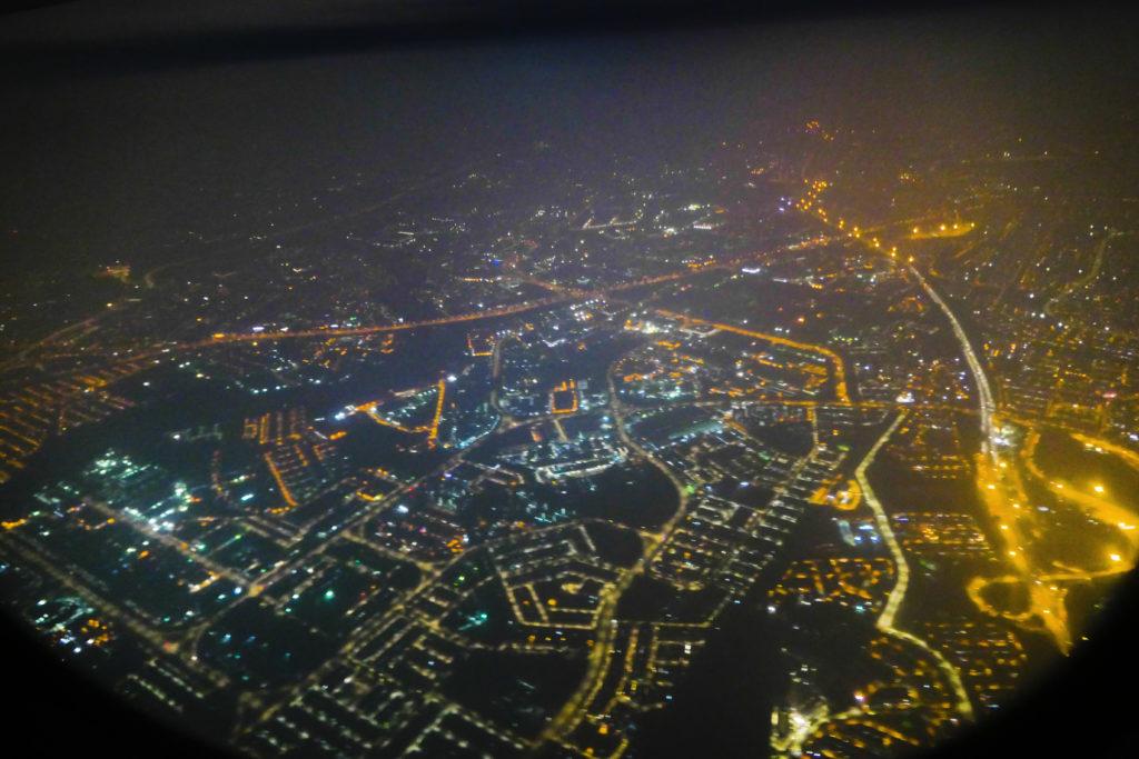 エアアジアXD7523便羽田発クアラルンプール行き 外側マレーシア眺望