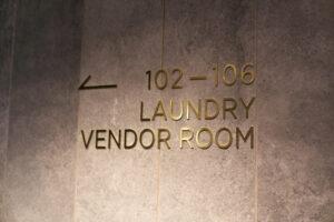HOTEL & SPA センチュリーマリーナ函館 1階 ランドリーベンダールーム ロゴ大