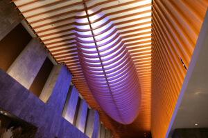 HOTEL & SPA センチュリーマリーナ函館 1階 ロビー 天井 夜