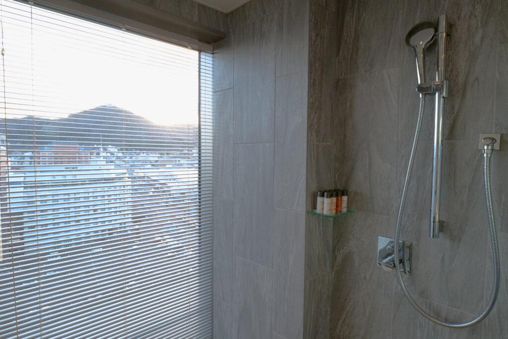 HOTEL & SPA センチュリーマリーナ函館 13階 ザロイヤルフロア コーナースイート バスルーム(お風呂場)シャワーブース 函館山