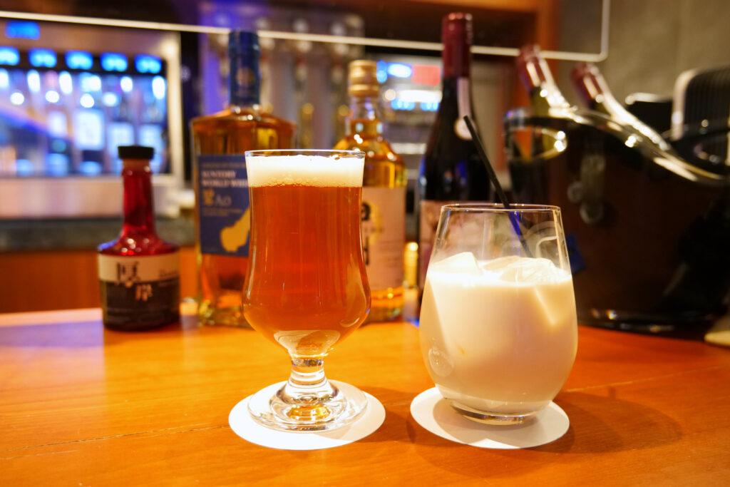 センチュリーマリーナ函館バーボイジャー(BAR VOYAGER)函館ガラビー(コアップガラナ+ビール)と季節のカクテルマロンミルク