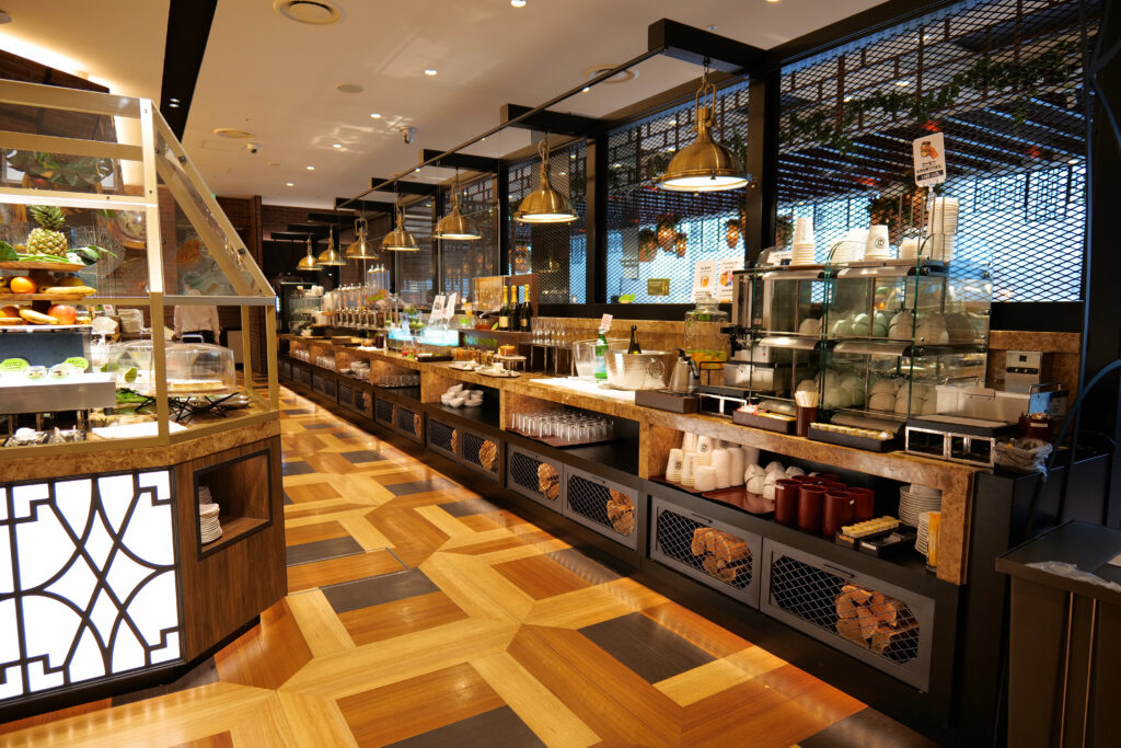 HOTEL & SPA センチュリーマリーナ函館 朝食(ブレックファスト) ユーヨーテラスハコダテ ドリンクコーナー