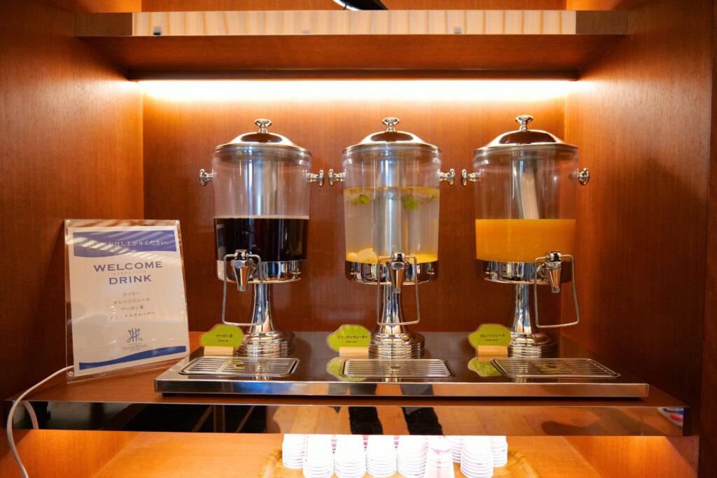 HOTEL & SPA センチュリーマリーナ函館 1階 ウェルカムドリンクサービス トリプルディスペンサー