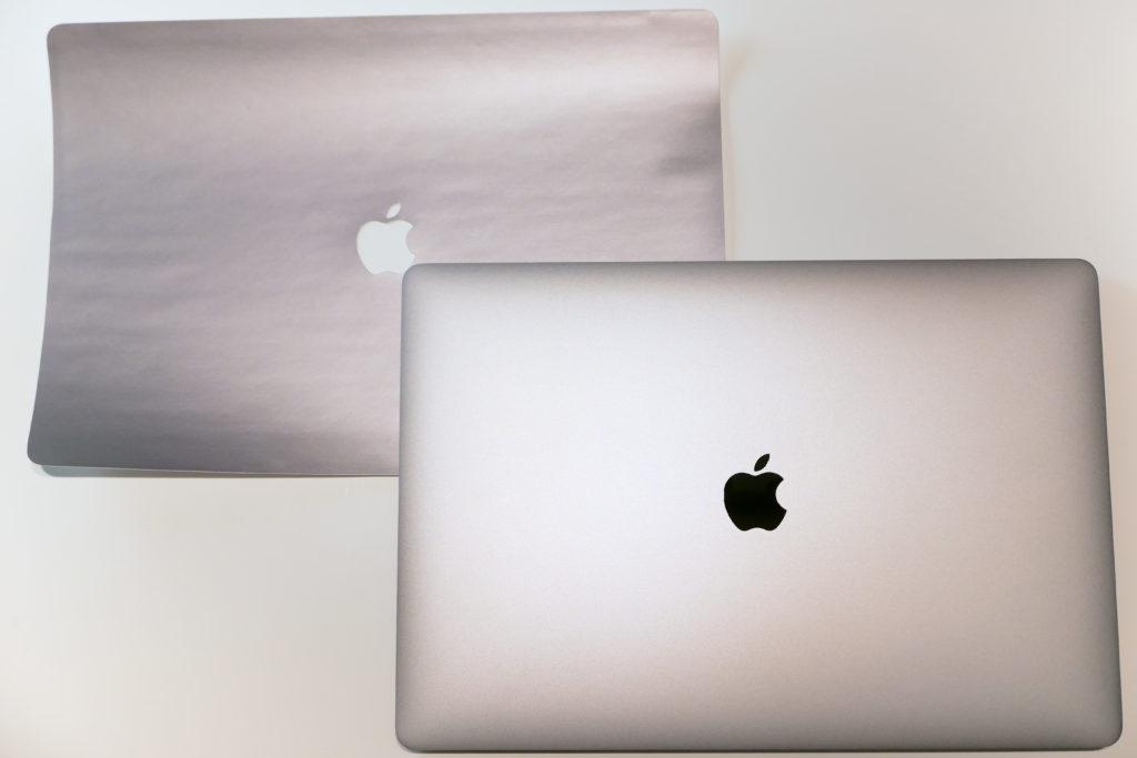 LENTION 16インチMacBook Pro 2019 全面保護シルバースキンシール 液晶保護フィルム 5テンセット 3M技術4H硬度(スペースグレイ)とMavBook Pro 16インチ Ultimateモデルを比較