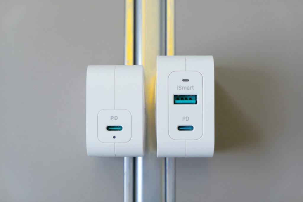 RAVPower61W電源アダプタ(RP-PC112)RAVPower65W電源アダプタ(RP-PC133)比較 コネクタ