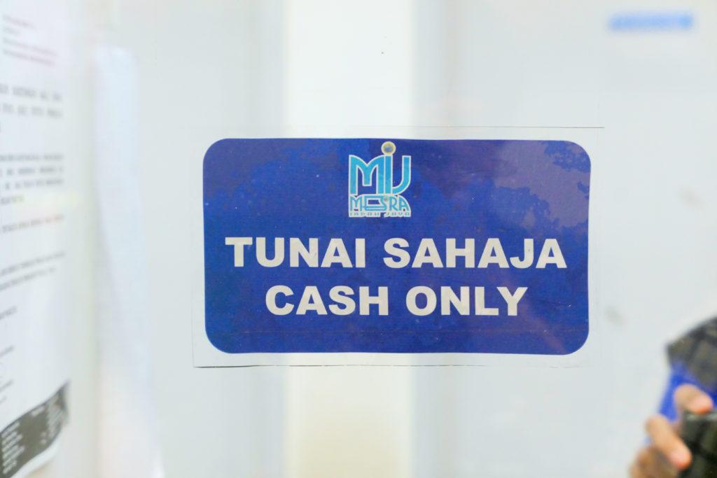 ゲートウェイ@KLIA2 TUNAI SAHAJA CASH ONLY 現金のみ