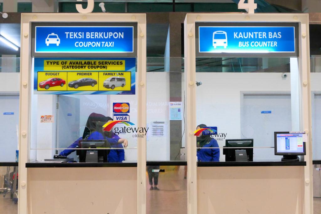 ゲートウェイ@KLIA2 タクシーカウンター バスカウンター