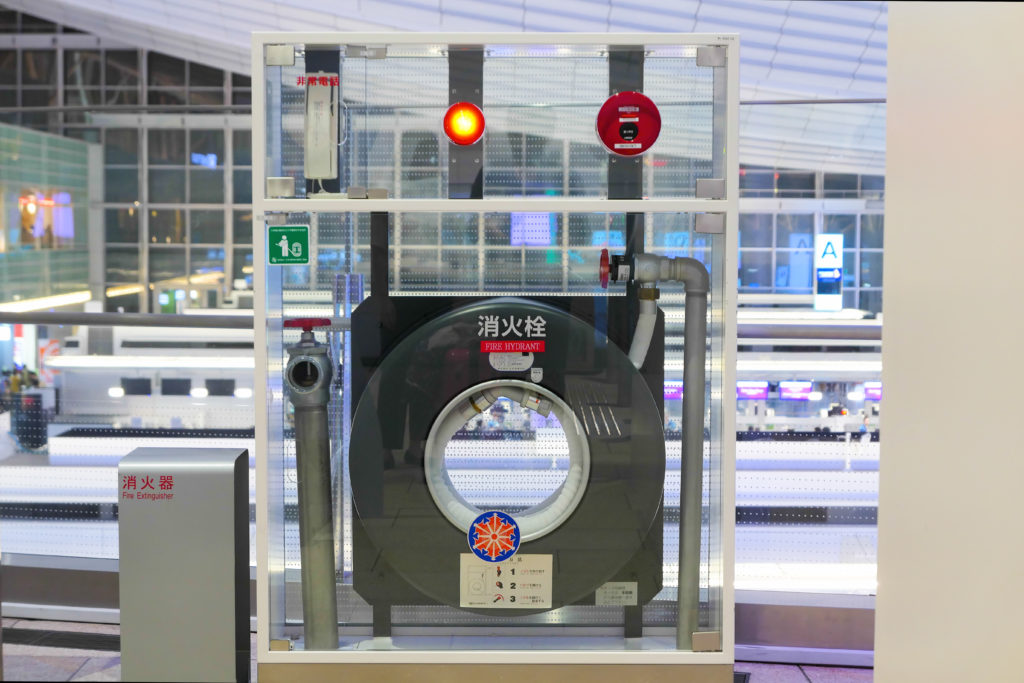 羽田空港第3ターミナル(国際線)4階夜消火栓