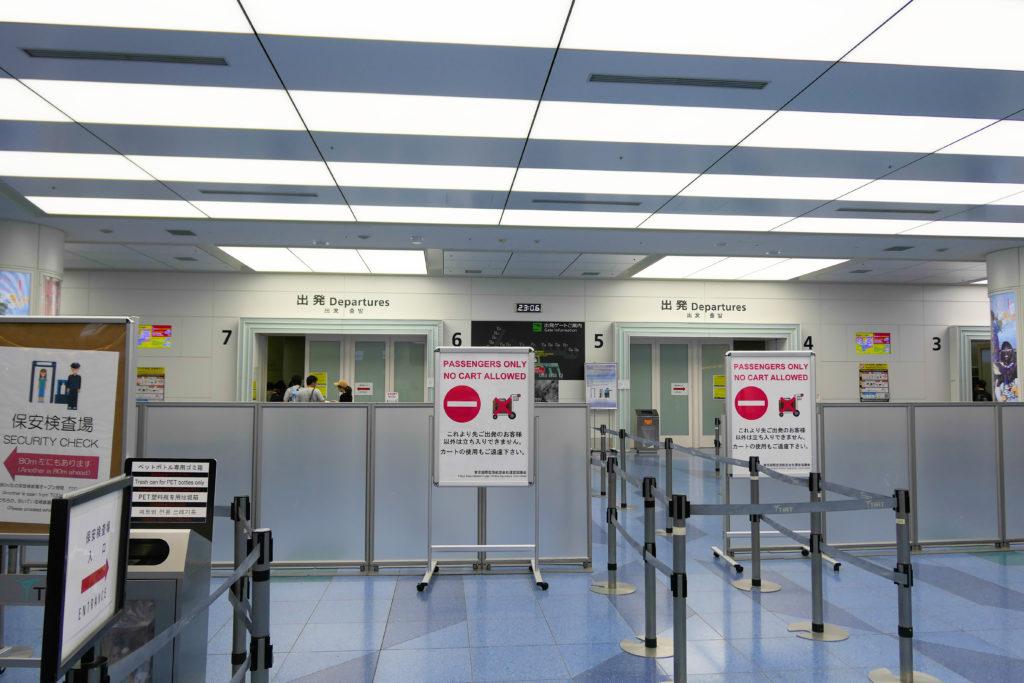 羽田空港第3ターミナル(国際線)出発エントランス
