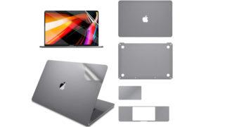LENTION 16インチMacBook Pro 2019 全面保護シルバースキンシール 液晶保護フィルム 5テンセット 3M技術4H硬度(スペースグレイ)アイキャッチ