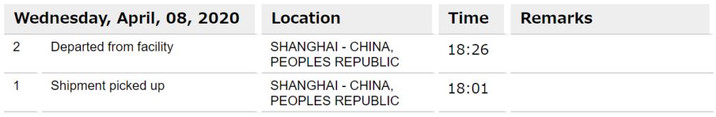 MacBookカスタマイズ注文配達日「中国 - 上海から」