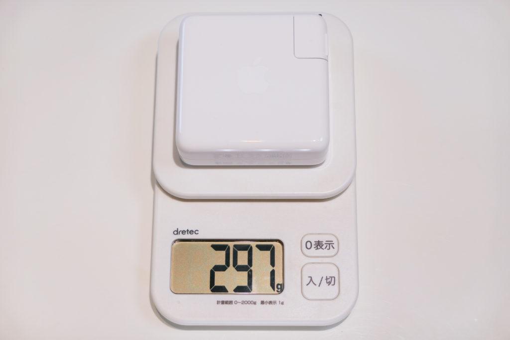 Macbook Pro 16インチ Ultimateモデル 開封 USB-C電源アダプタ96W重さ297グラム