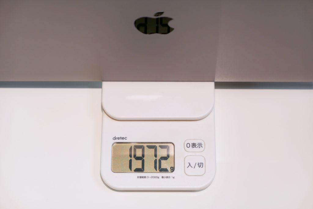 Macbook Pro 16インチ Ultimateモデル 重さ1972グラム