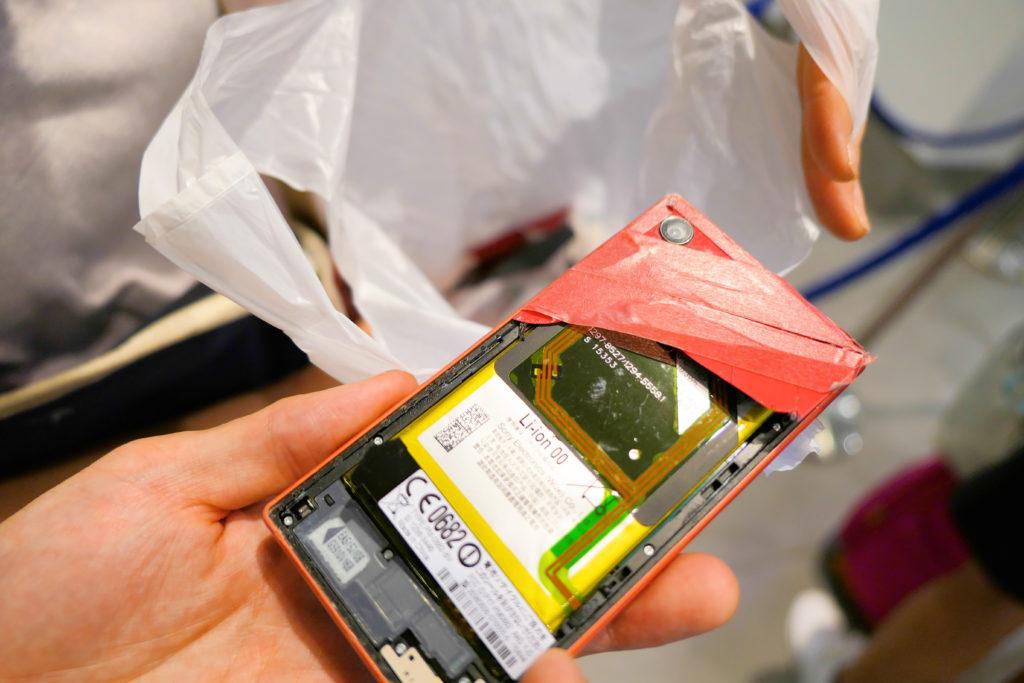 Sony Xperia Z5 Compact 破壊