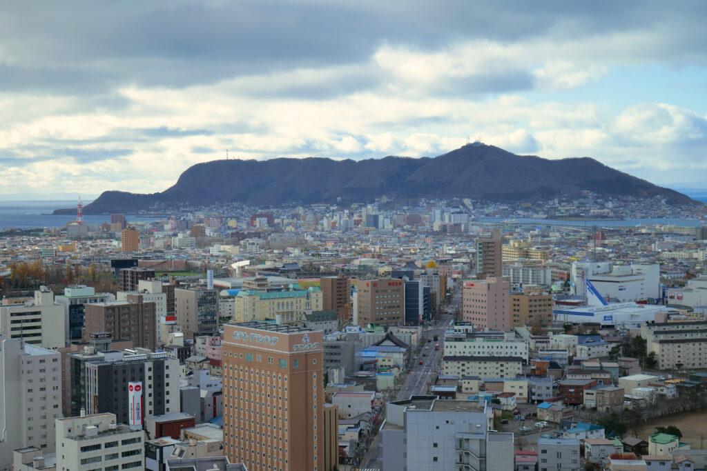 五稜郭から函館山を観賞